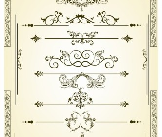 Vector Vectorized Scroll Set Vector Art
