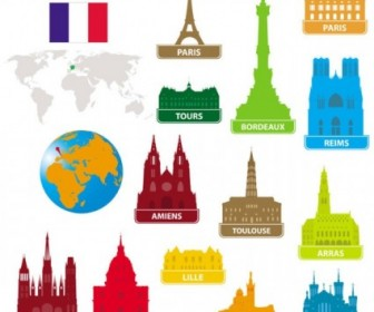 Vector National Landmarks Silhouette 03 Silhouettes Vector Graphics