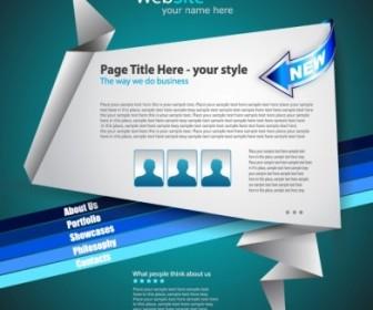 Vector Origami Website 04 Web Design Vector Graphics