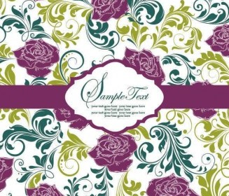 Vector Pattern Card Vector004 Background Vector Art