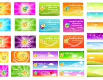 Vector A Variety Of Fantasystyle 2 Background Vector Art