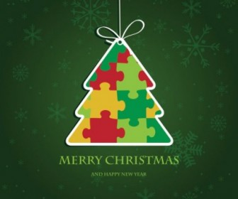 Vector Beautiful Label 03 Christmas Vector Graphics