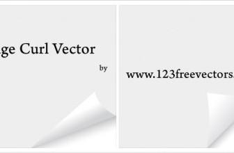 Vector Page Curl Vector Art