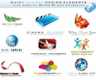 Vector 3d Style Logo Template Nonoriginal Works Vector Art