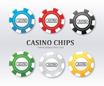 Vector Poker Chip Vector Art