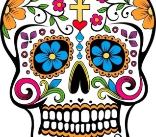 Vector Sugar Skull Vector Art
