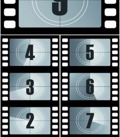 Vector Digital Countdown Film Titles Vector Art