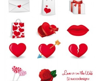 Vector Set For Valentine's Day Icon Vector Graphics