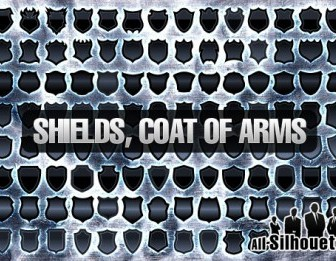 Vector 120+ Shields, Coat Of Arm Silhouettes Vector Graphics