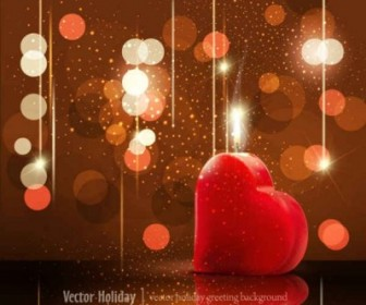 Vector Valentine's Day Greeting Card Background Vector Art