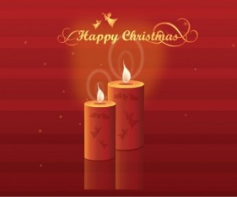 Vector Shining Candles Illustration Christmas Vector Graphics