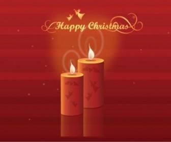 Vector Shining Candles Illustration Christmas Vector Graphics