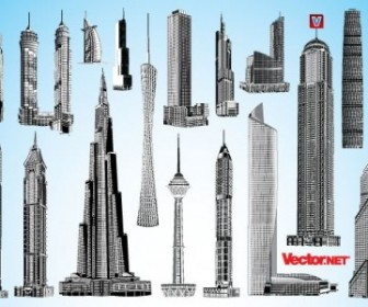 Vector Skyscraper Pack 1 Landscape Vector Graphics