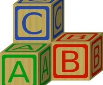 Vector Abc Blocks Vector Clip Art