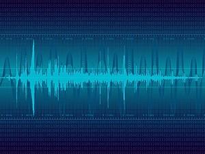 Vector Digital Sound Wave Vector Art