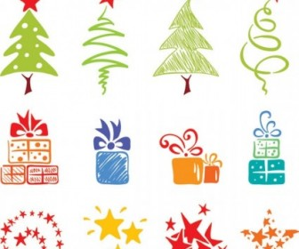 Vector Pink Lovely Element 2 Christmas Vector Graphics
