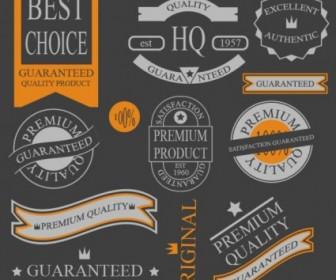 Vector Classic Label Stickers 02 Vector Art