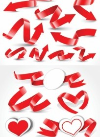 Vector A Variety Of Festive Ribbon Ribbons Vector Art