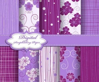 Vector Purple Fabric Lines Patterns Background Vector Art