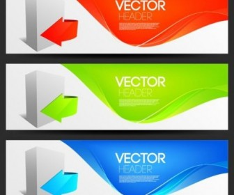 Vector Fashion Design 2 Arrow Vector Banner