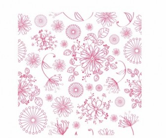 Vector Seamless Floral Pattern Vector Art