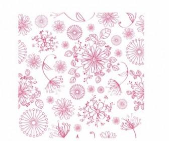 Vector Seamless Floral Pattern Vector Art