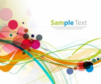 Vector Colorful Rounds And Waves Background Graphic Abstract Vector Graphics