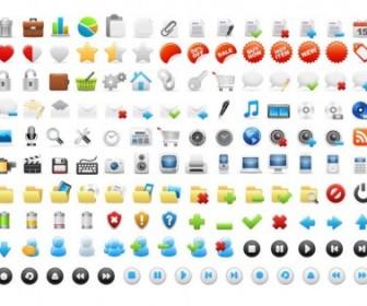 Vector Web Icons Set Icon Vector Graphics