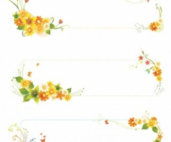 Vector Flowers Banners Flower Vector Art