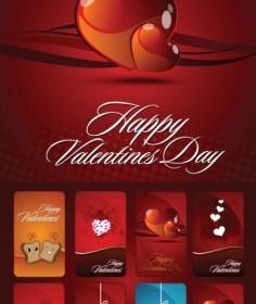 Vector Valentine Day Card Heart Vector Art