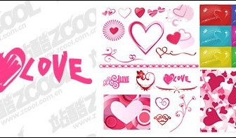 Vector Number Valentine's Day Heartshaped Elements Of Material Heart Vector Art