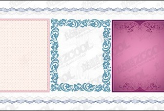 Vector Practical Lace Border Material3 Flower Vector Art