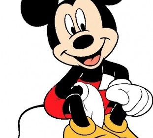 Vector Mickey Mouse 002 Cartoon Vector Art