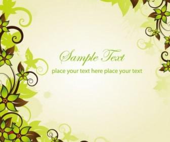 Vector Green Frame Graphic Floral Vector Art