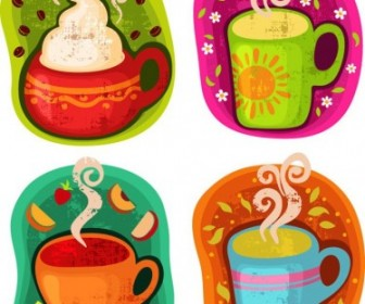 Vector Cup Of Hot Drink Coffee Or Tea Illustration Vector Art