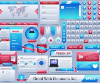 Vector The Exquisite Page Elements Vector Art