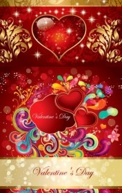 Vector Valentine Gorgeous Pattern Vector Art