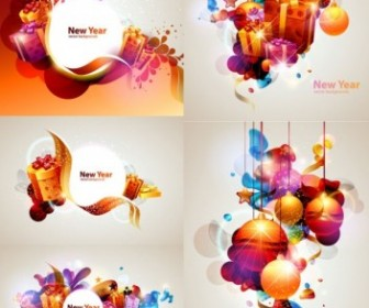 Vector 2 Colorful Gift Christmas Vector Graphics
