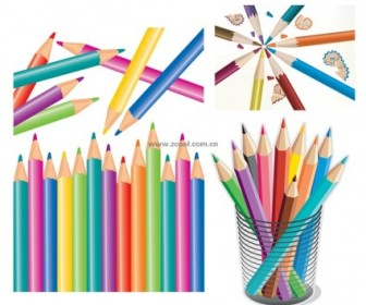 Vector Colorful Color Pencil Vector Art