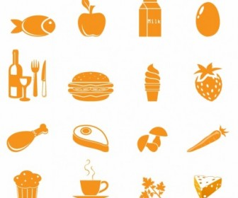 Vector Food Icons Icon Vector Graphics
