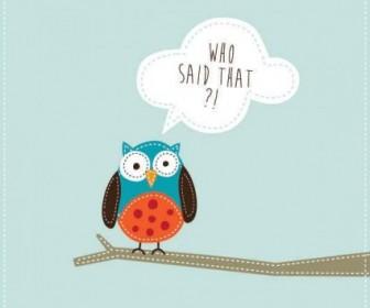 Vector Cute Owl Graphic Background Vector Art