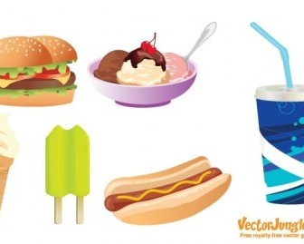 Vector FREE VECTOR JUNK FOOD Vector Art