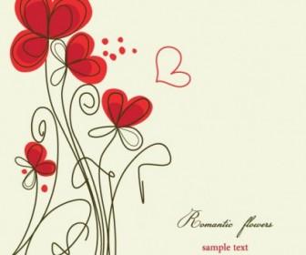 Vector Stylish Handpainted Flowers 3 Flower Vector Art