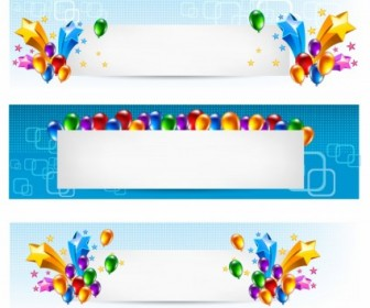 Vector Star Balloon Banners Vector Banner