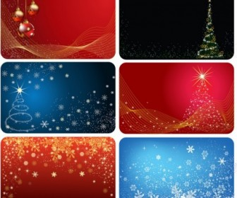 Vector Cards Six Version Christmas Vector Graphics