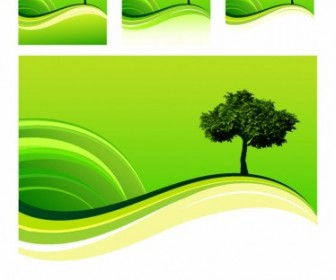 Vector One Tree Hill Landscape Vector Graphics