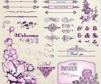 Vector European Retro Floral Lace 1 Pattern Vector Art