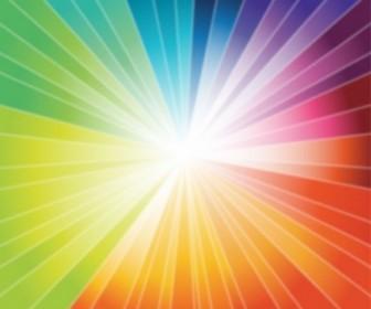 Vector Rainbow Burst Graphic Vector Art
