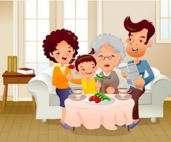 Vector Iclickart Illustration 14 Family Cartoon Vector Art