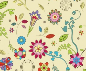 Vector Cute Flowers Wallpaper Pattern Vector Art